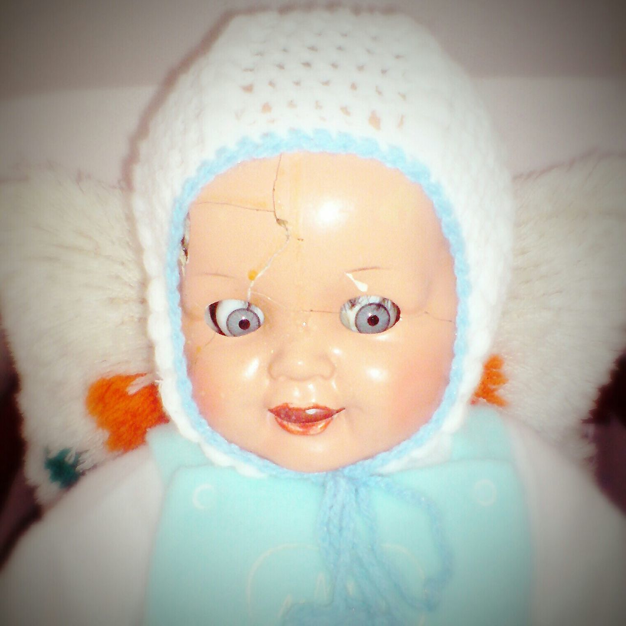 Close Up Of Doll With Broken Head