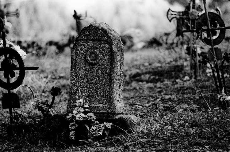 End Gravestone Black And White Friday