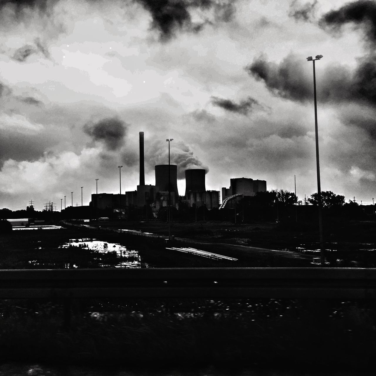 Black And White Shootermag Clouds Architecture Industrial AMPt_community Sky Blackandwhite Clouds And Sky IPhoneography