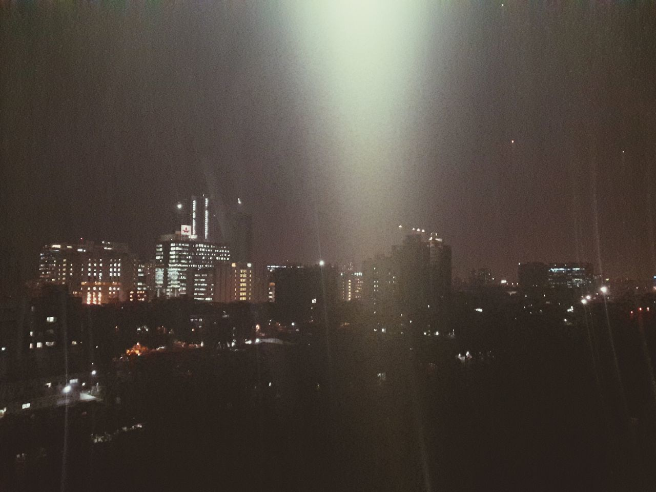 Cityscape Night Photography Illuminated Light In The Darkness Lightofhope Heavenly Spooky City