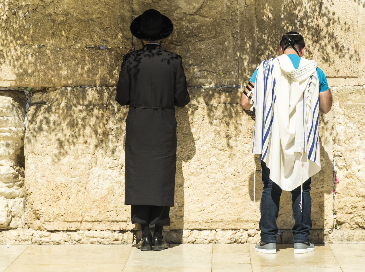 # #back #fashion #gerusalemme #HatDay  #jerusalem #jewish #june2017 #manside #Muro #murodelpianto #olympus #omdem5markii #outfit #OOTD #peace #people #PRAY #Shadow #streetphotography #wall #westernwall Lifestyles Outdoors People Standing