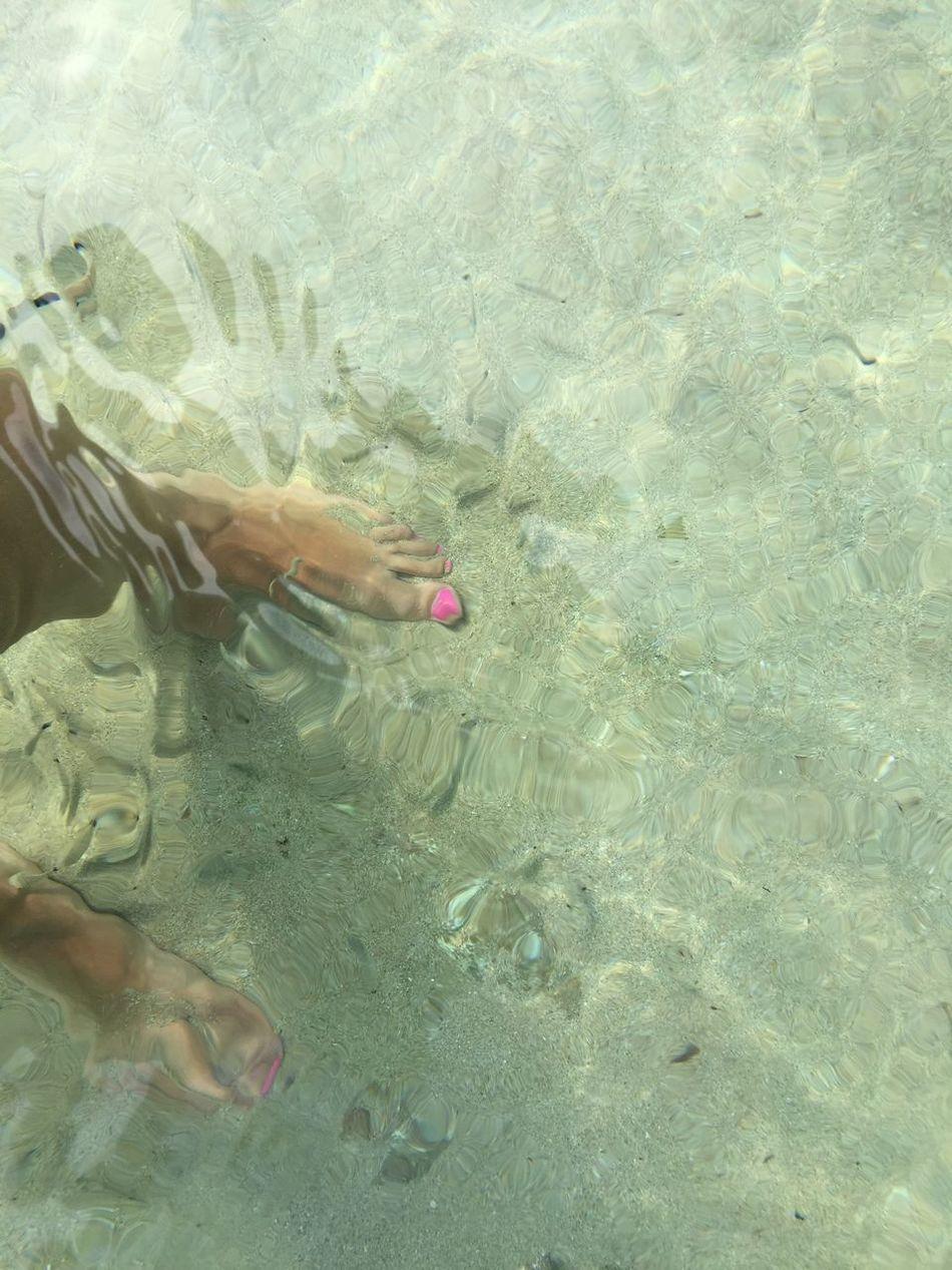 No filter Water Human Leg Sea Nail Polish