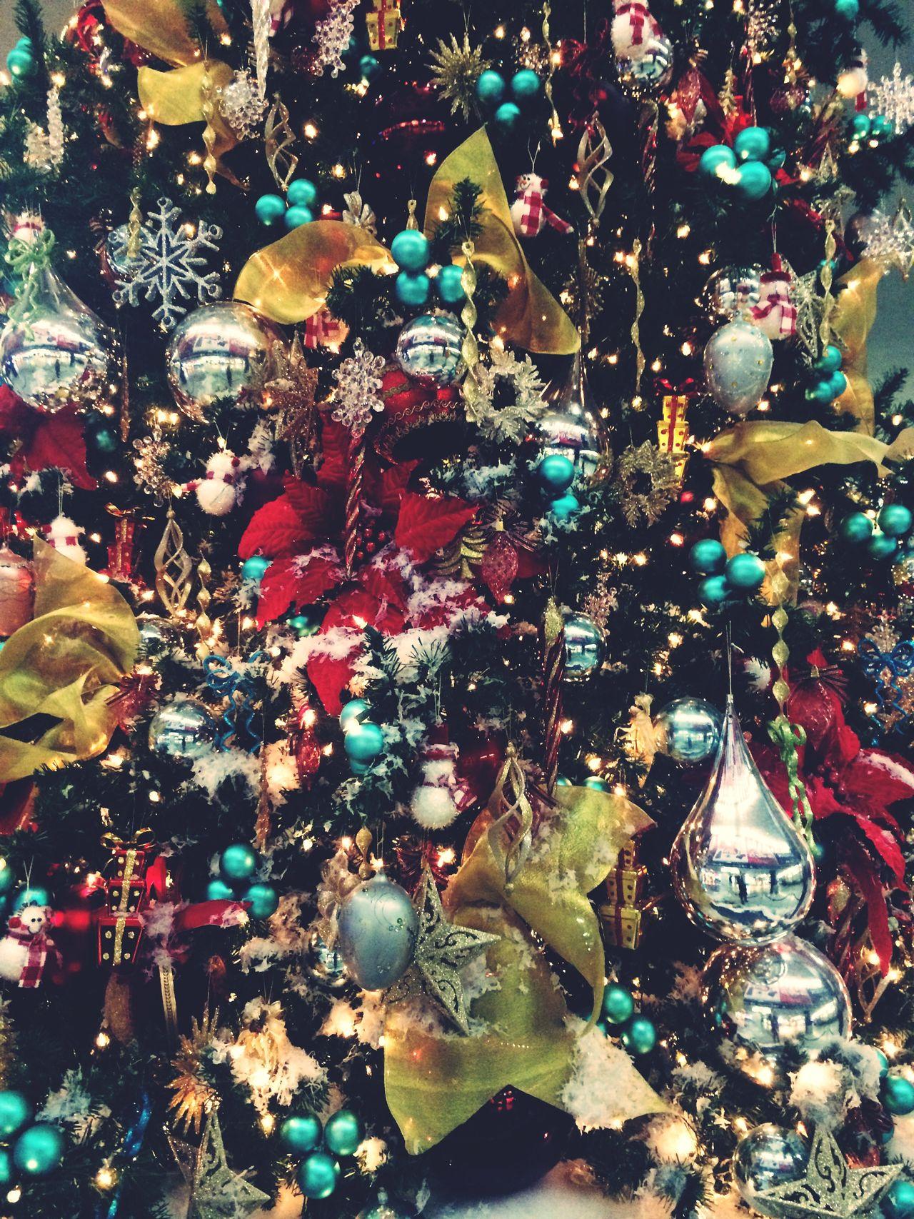 Glitter Xmas Christmas Tree Reflection Chistmas Ornament Holidays Winter Tree Decoration