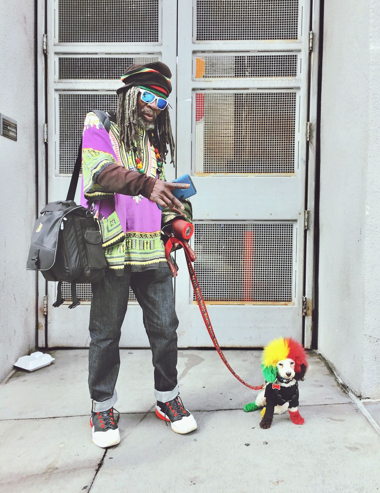 EyeEm Diversity RASTA puppy Headwear Outdoors Lifestyles Real People Adult One Person Building Exterior Happiness Looking At Camera peace Break The Mold The Street Photographer - 2017 EyeEm Awards