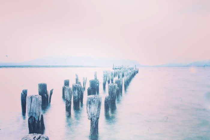 Patagonia. Water Sea Beauty In Nature Nature Outdoors Scenics Horizon Over Water No People Day Sky Pink Color Patagonia Chilena Long Exposure Millennial Pink Perspectives On Nature EyeEmNewHere Postcode Postcards