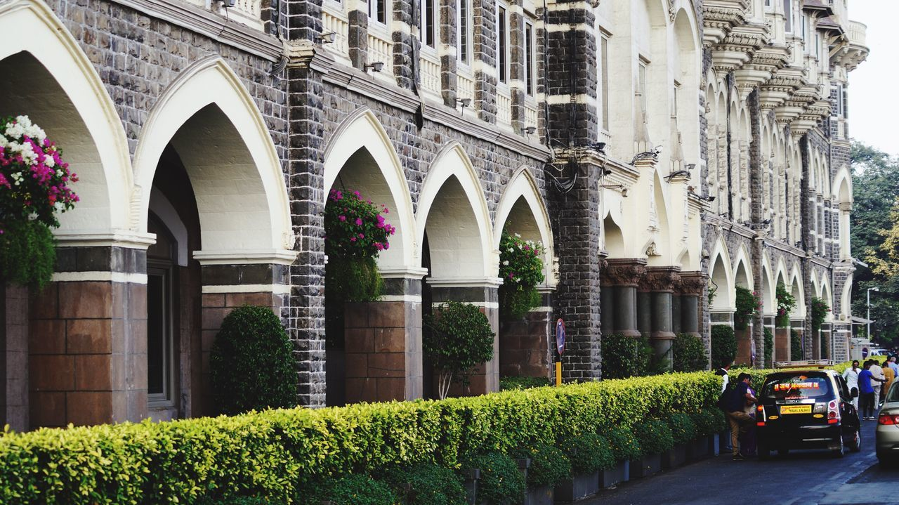 arch, architecture, built structure, building exterior, day, outdoors, plant, no people