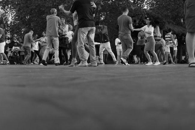 Blackandwhite Casual Clothing City Life Dance Day Group Of People Leisure Activity Lifestyles Medium Group Of People Mixed Age Range Monochrome Selective Focus Side By Side The Street Photographer - 2016 EyeEm Awards