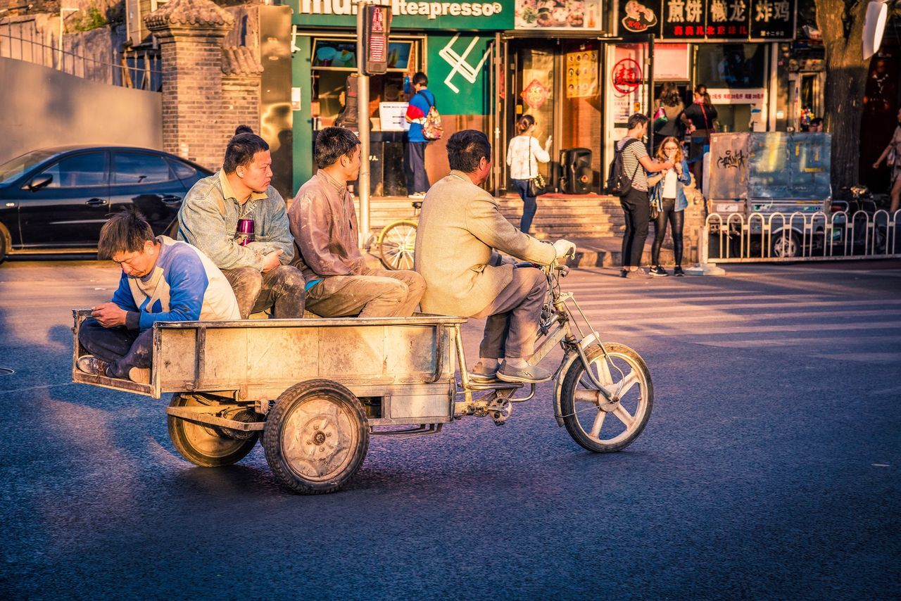 Beijing Beijing Scenes Beijing, China China China Photos Chinese Chinese Culture City City Life City Life Eyeem In Beijing Men Mode Of Transport People People Of EyeEm People Photography People Watching Real People Still Life Street Street Photography Streetphotography Sunset Transportation The Street Photographer - 2017 EyeEm Awards