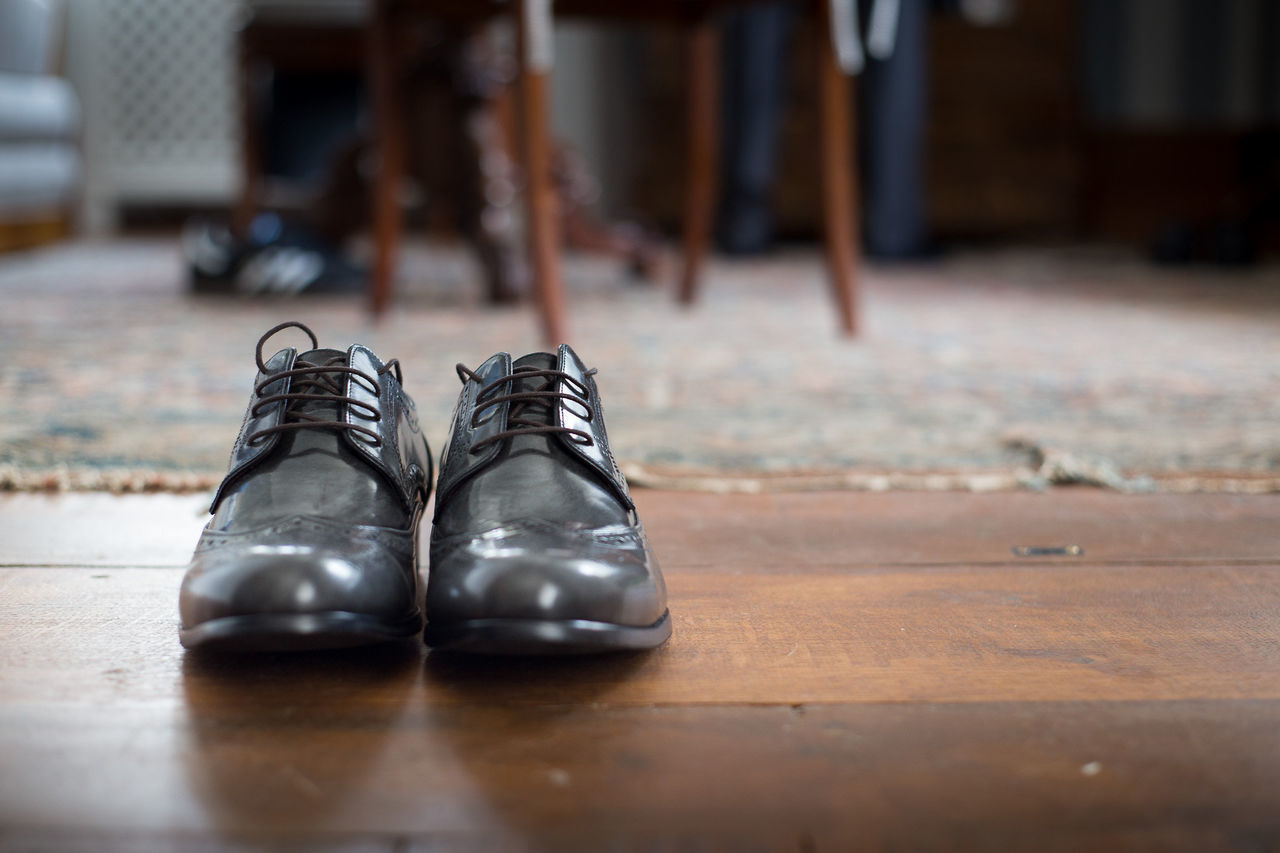 Black Shoes Close-up Day Focus On Foreground Groom Indoors  No People Pair Shoe Shoelace Sport Wedding Day Wedding Dress Wedding Shoes