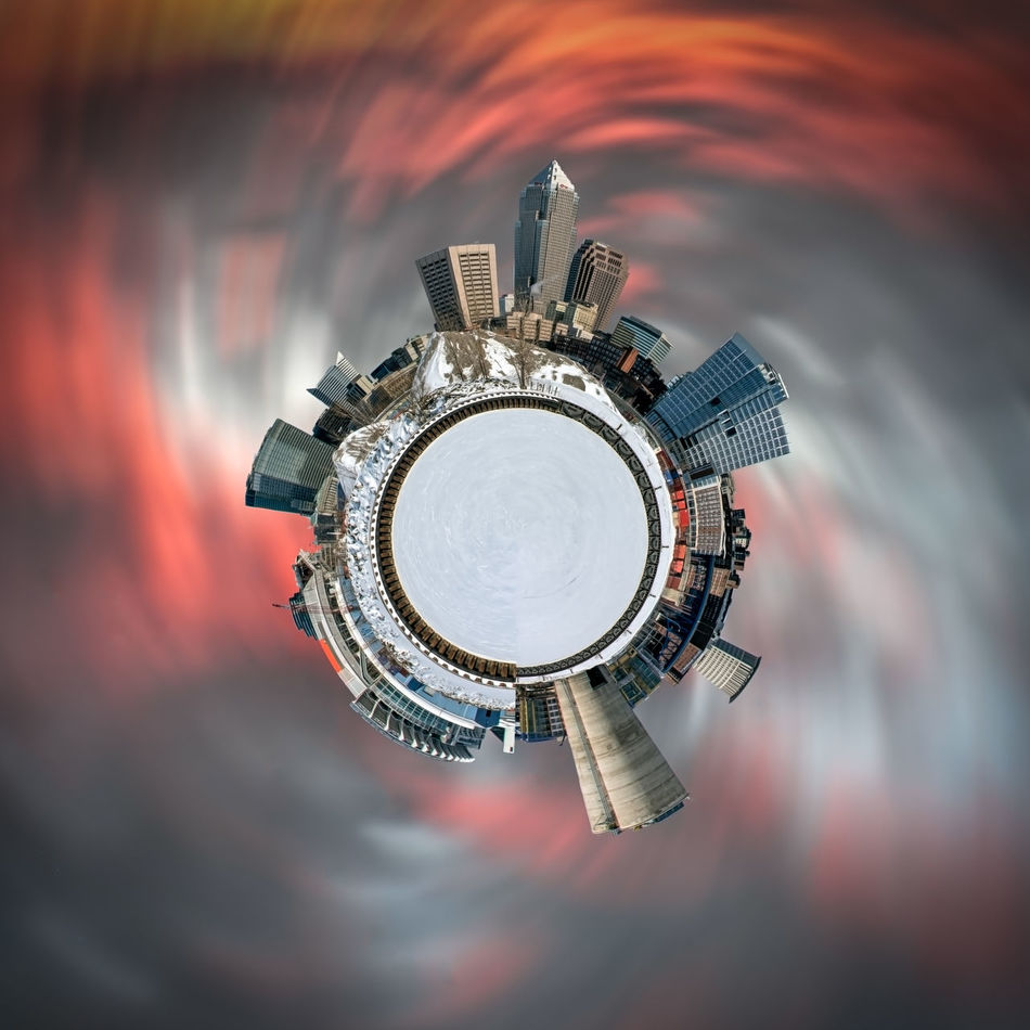 Downtown Cleveland in the winter. Hanging Out Cleveland Ohio Tinyplanets Tinyplanetfx Lake Erie Ice Winter Landscape Check This Out