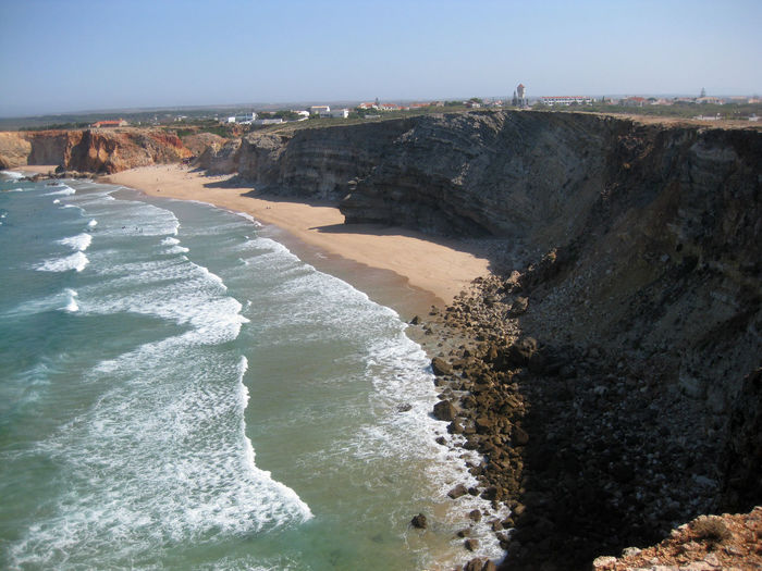 Algarve Beach Cliff Eroded Exploring Geology Physical Geography Portugal Power In Nature Rock Rock - Object Rock Formation Rocky Rough Scenics Sea Stone Surf Tranquil Scene Water