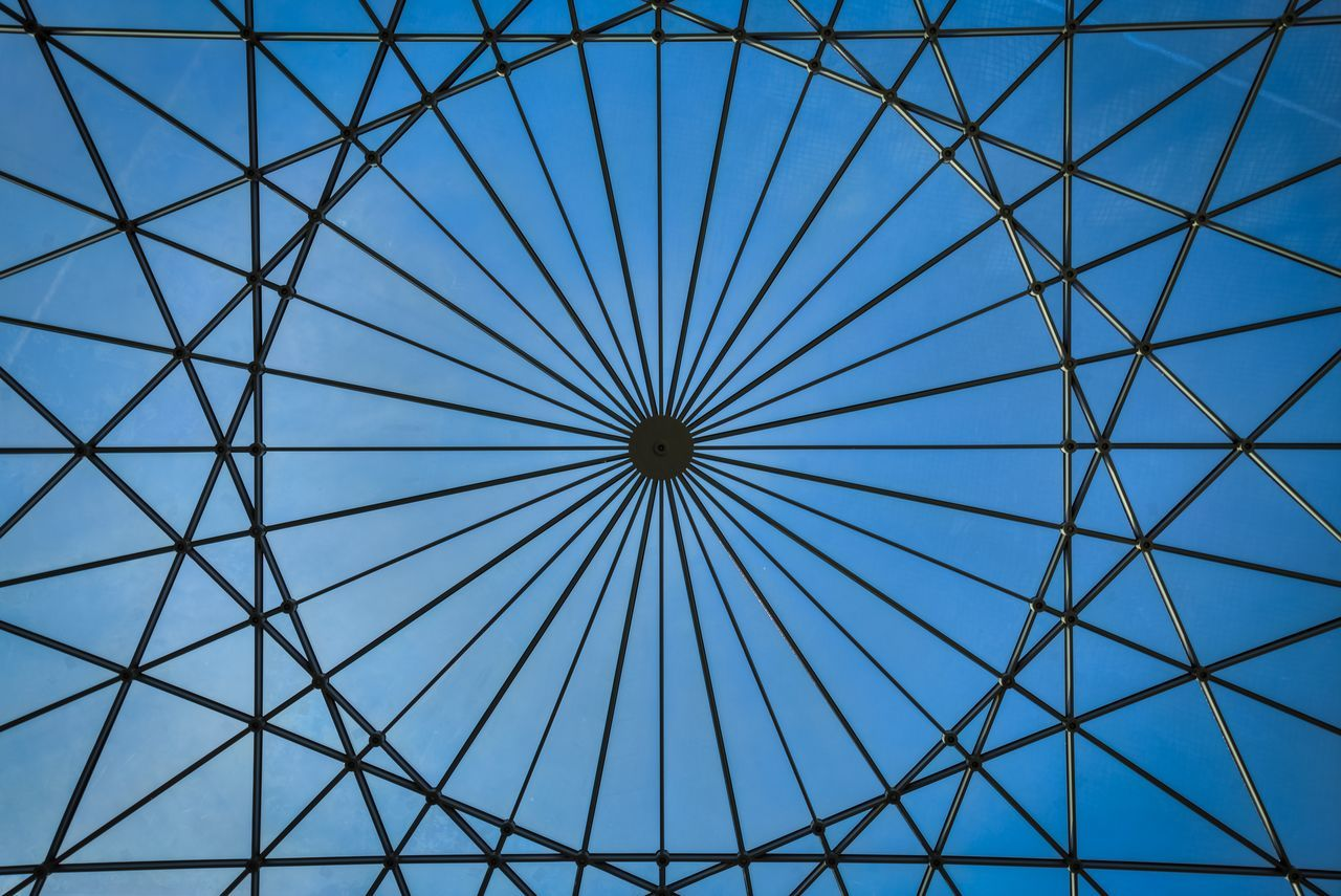 Under the dome Amsterdam Architecture Built Structure Ceiling Design Europe Geometric Shapes Geometry Glass Ceiling Holland Low Angle View Museum Netherlands Protection Roof Scheepvaartmuseum EyeEm X Google - Your Amsterdam