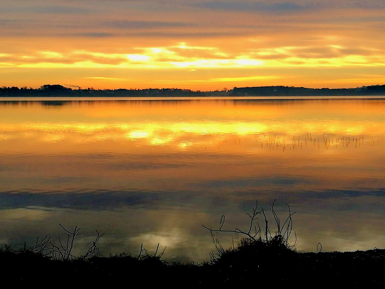 Denmark 🇩🇰 Danmark Furesø Sunrise Reflection Water Orange Color Lake Lake View Beauty In Nature Nature Tranquility Outdoors Sky Scenics Cloud - Sky Dramatic Sky Awe No People Spring Is Coming  Spring Forår EyeEm My Life