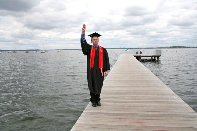 Alumni Casual Clothing Cloud Cloud - Sky Day Diminishing Perspective Fresh On Eyeem  Full Length Graduation Lake Mendota Madisonwi Narrow Nature One Person Outdoors People And Places Red Scenics Sea Sky The Way Forward Tranquil Scene Tranquility Water Young Adult