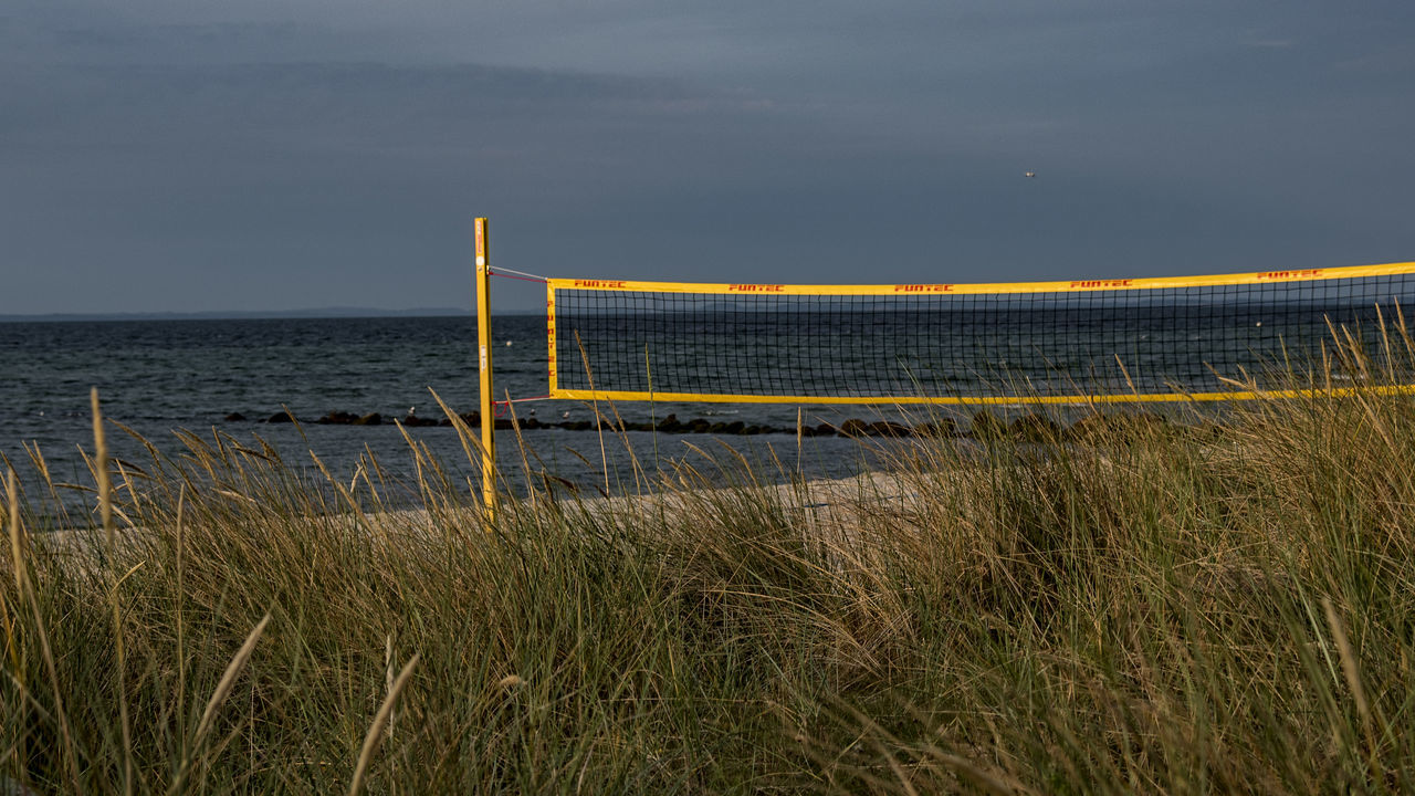 beach volleyball Architecture Baltic Sea Beach Beach Volleyball Beauty In Nature Built Structure Day Dune Grass Goal Grass Horizon Over Water Morning Light Nature No People Outdoors Sand Scenics Sea Sky Water