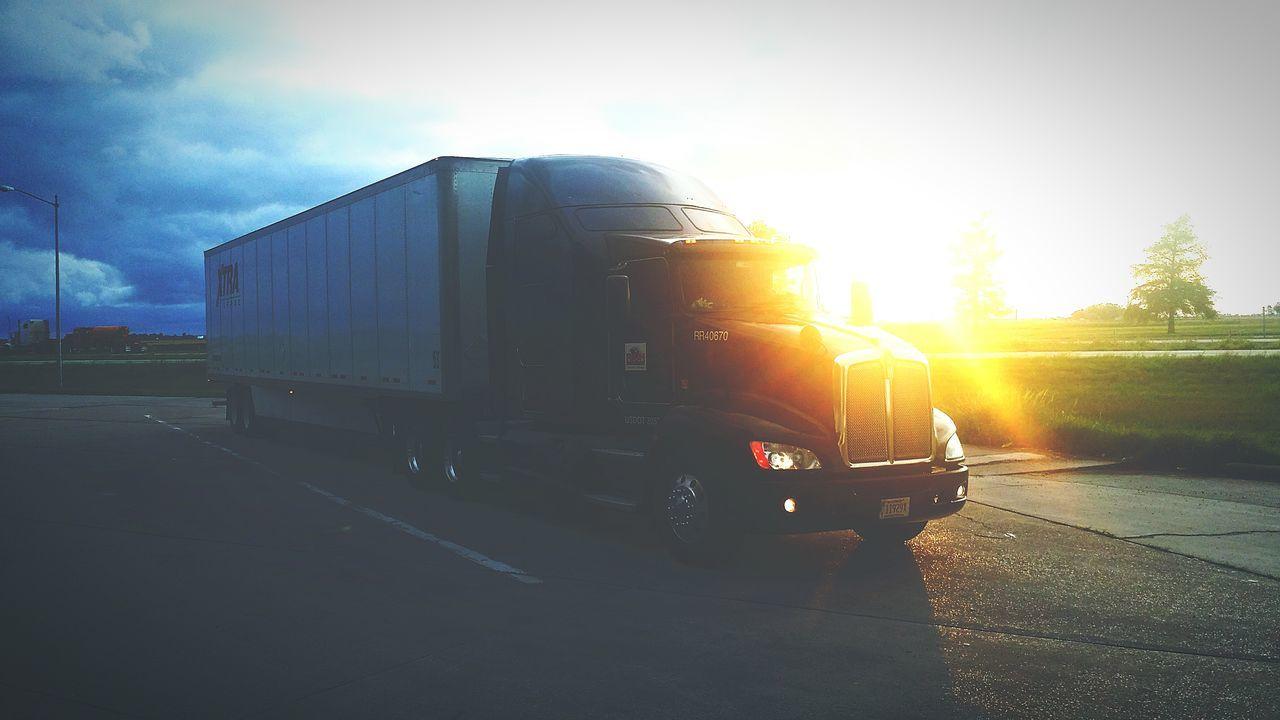 My Truck Sunset Truckinglife Paid Tourist
