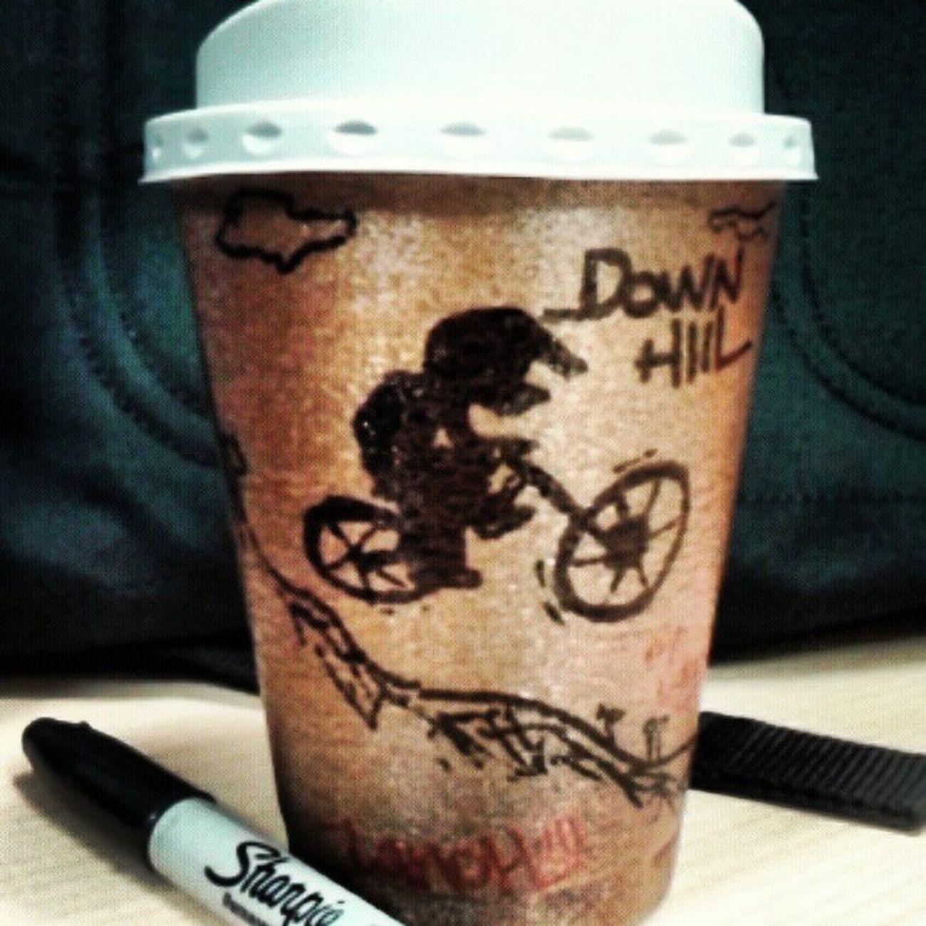 Downhill Coffe Coffecup Sharpie bike bicycle mextagram mountainbike mexigers mtb morningride mybike allshots_ igers igersgdl igworldclub igersguadalajara instagood mextagram