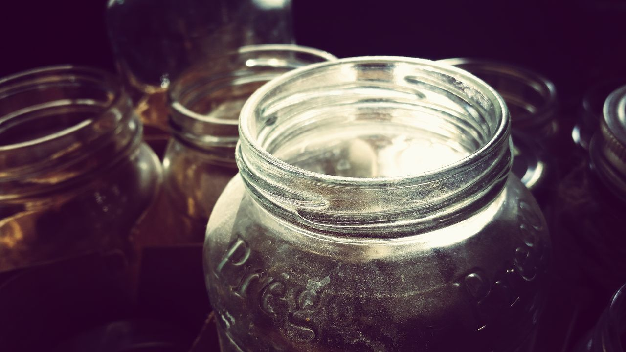 Close-up Jars  Glass Recycling