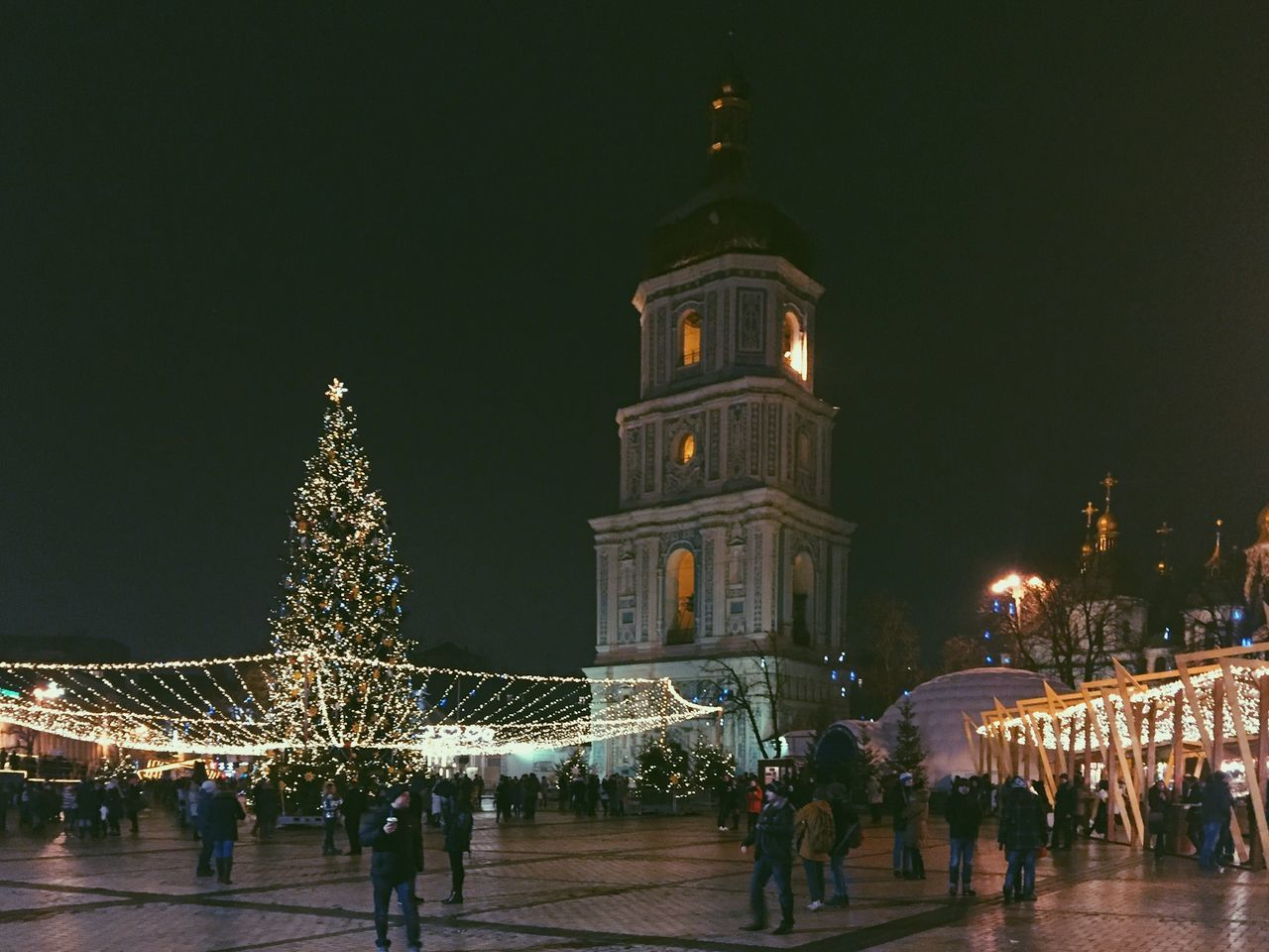 Christmas market and New Year Celebration at St.Sophia square in Kiev, Ukraine Beautiful Celebration Christmas Christmas Christmas Decoration Christmas Lights Christmas Market Christmas Market Christmas Tree Crowd Decoration Holiday - Event Illuminated Kiev Large Group Of People Main Square New Year New Year Celebration Night St.Sophia Church In Kiev Tourism Travel Travel Destinations Ukraine