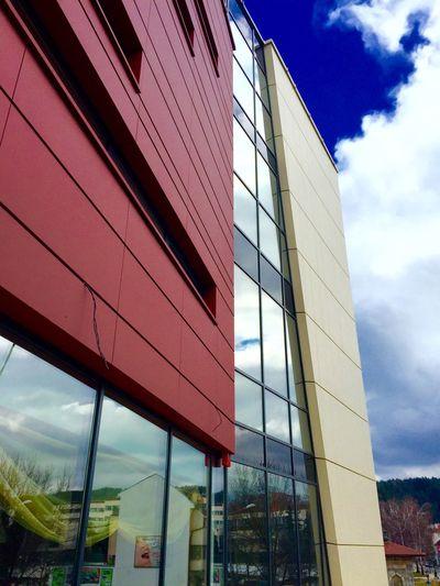 Building Building Exterior Glass Sky And Clouds Reflection Sky Reflection Sky Reflection On My Window