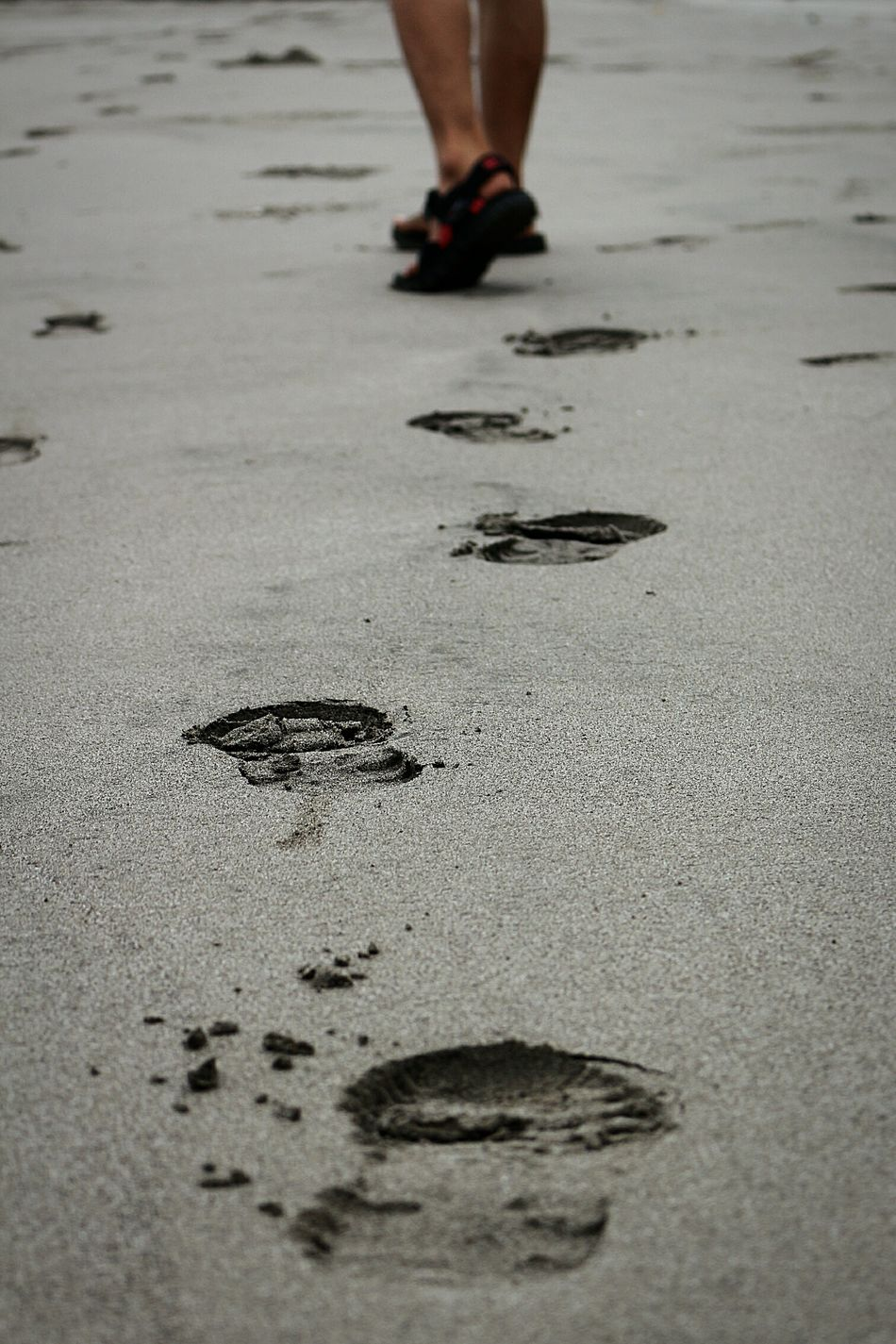 Footprints... Long Goodbye Human Body Part Low Section Sand Nature Beach Photography Wonderfulindonesia