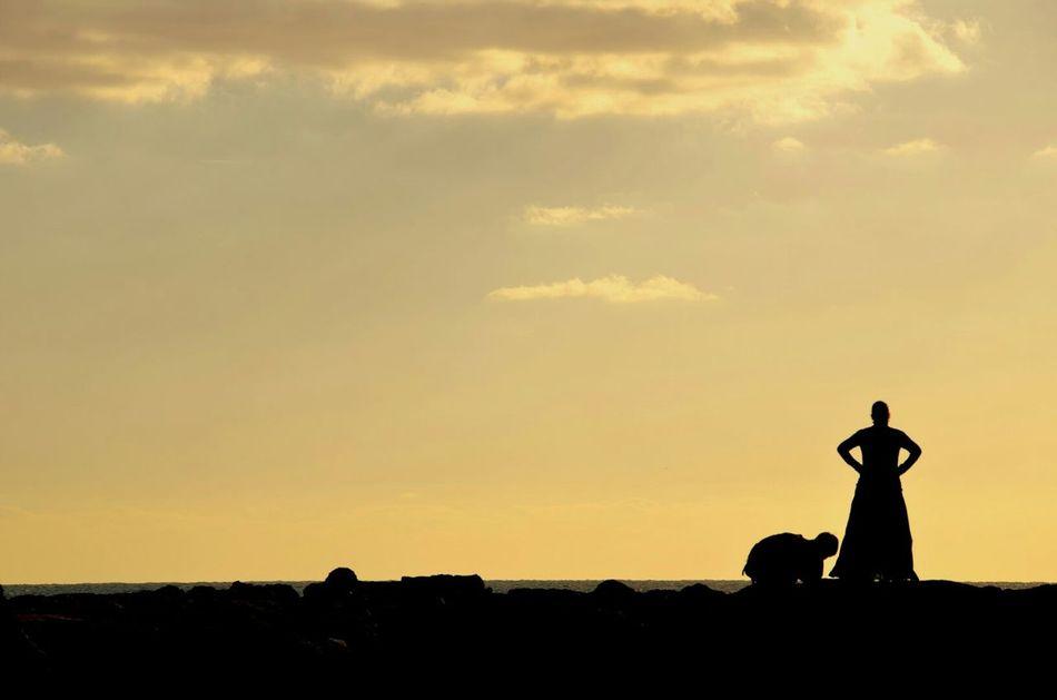Beautiful stock photos of silhouette, Bending, Cloud - Sky, Field, Landscape