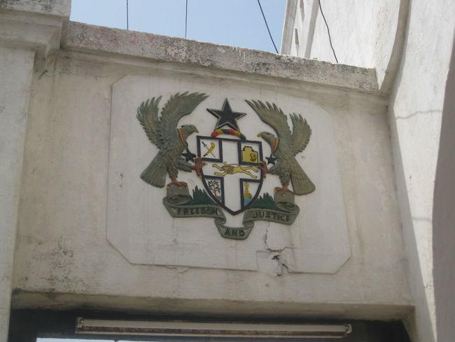 Black Star Cape Coast Cape Coast Castle Coat Of Arms Ghana Ornate Pride Shield