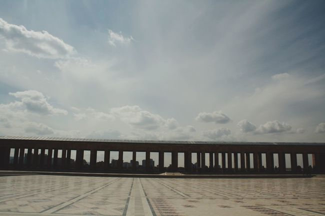 Connection Bridge - Man Made Structure Built Structure Architecture Sky Cloud Water Engineering Bridge Day Calm Anıtkabir Ocean Outdoors Sea Tranquility No People Tranquil Scene Cloud - Sky Architectural Column Cloudy