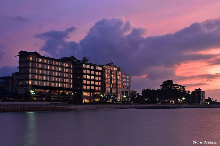 Sunset Waterfront No People Japan EyeEmNewHere EyeEm Best Shots EyeEm Team Landscape 皆生温泉 米子市 鳥取県 Long Exposure