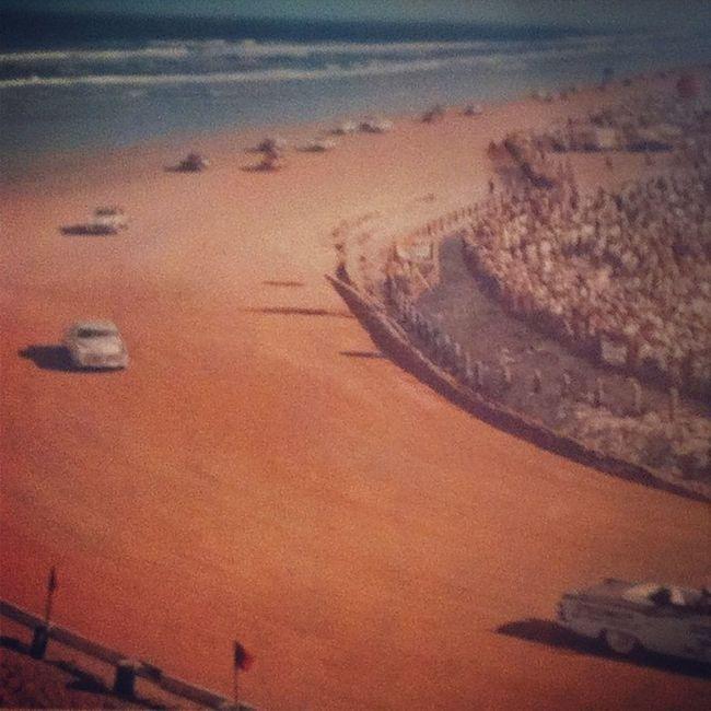 Thinking of summer Retrocars Beachracing Whiteracecars Summerfun sun water beach love