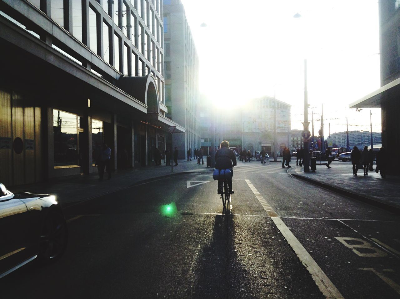 Biking in the sun // Geneva Streetphotography Open Edit IPhoneography Enjoying The Sun