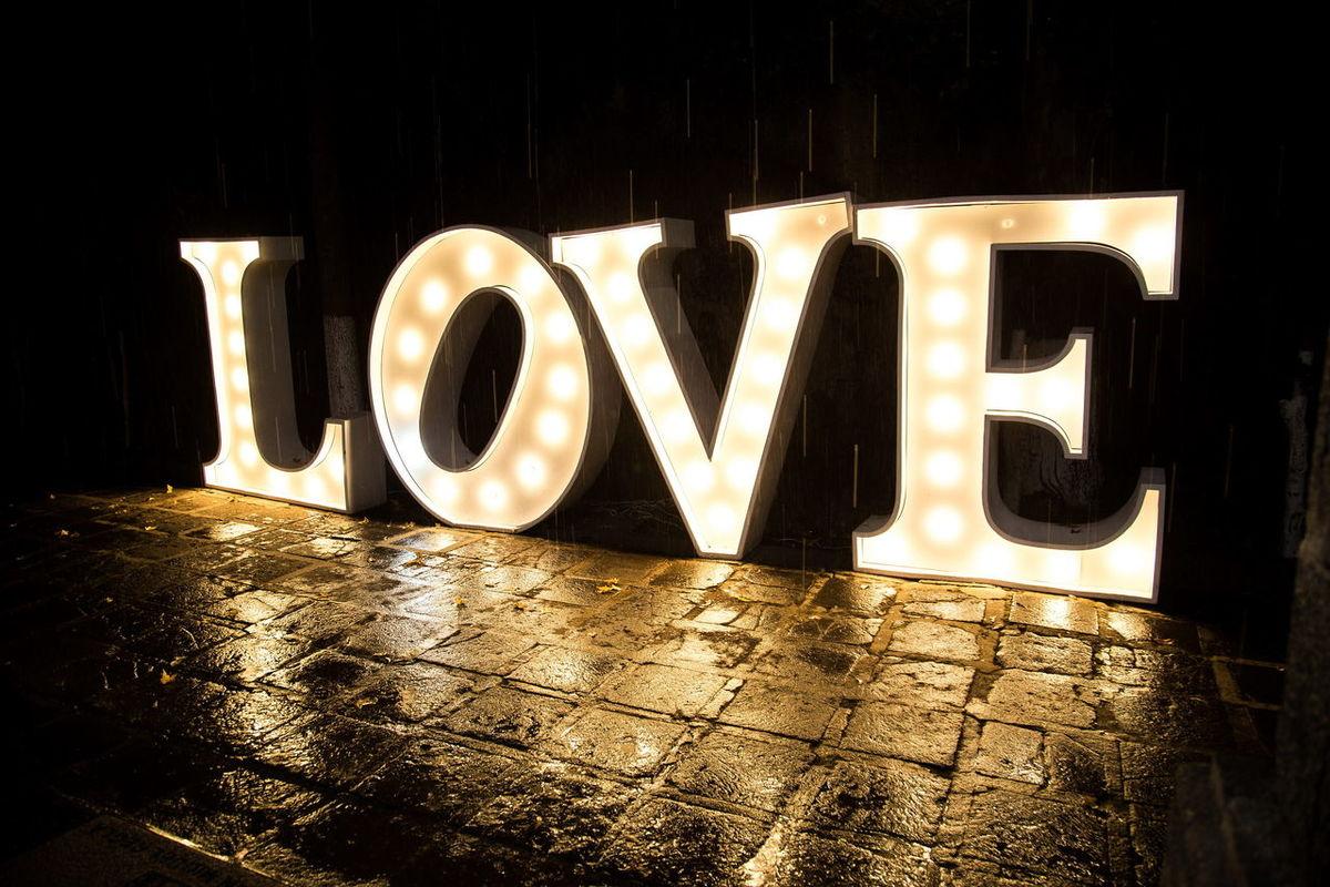 Love Alphabet Light Letters Night Big Letters