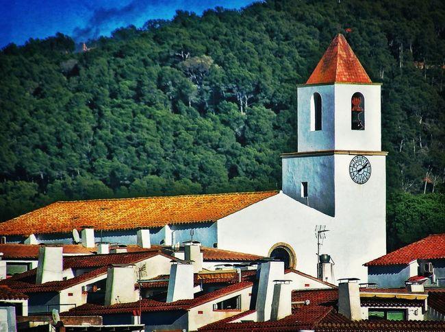 Església de Calella de Palafrugell vista des de Sant Roc