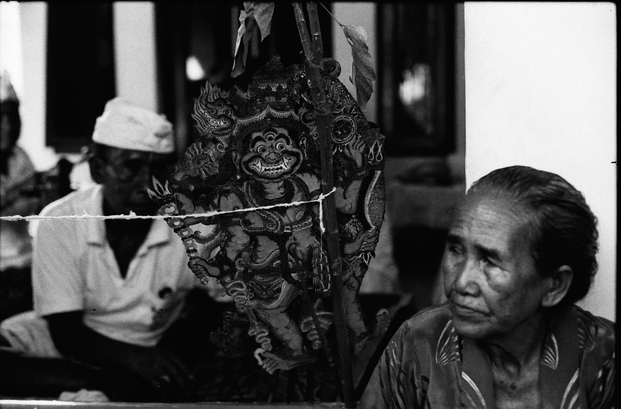 35mm Film Bali Bali, Indonesia Balinese Puppet Close-up Elderly Woman Film Photography Filmisnotdead Filmphotography INDONESIA Makeportraits Makeportraitsnotwar Portrait Of A Woman Puppet Puppet Master Puppet Show Real People Selective Focus Traditional Puppet-shadow Two People