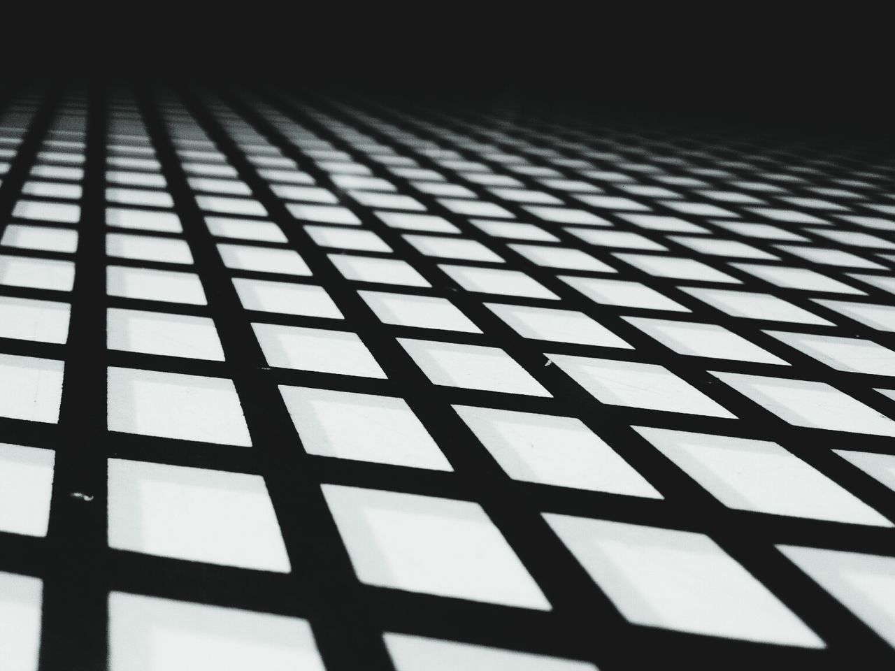 Grid Pattern Black And White Geometric Shapes