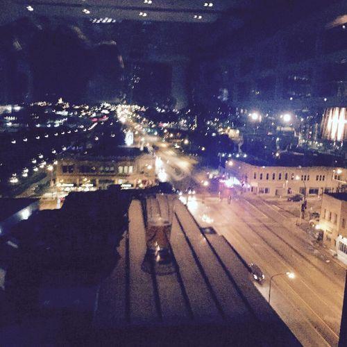 City lights Night City High Angle View