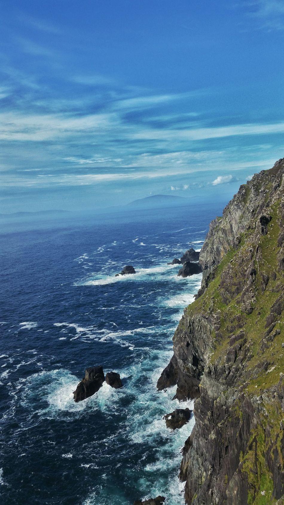Colour Of Life Ireland Ocean Landscape Seascape Cliffs Waves