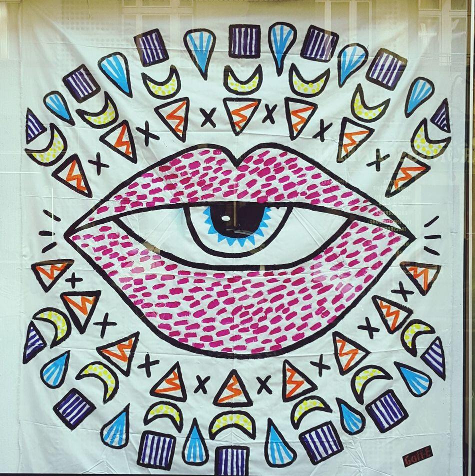 Eyes Berlin Anzengruberstrasse Painting
