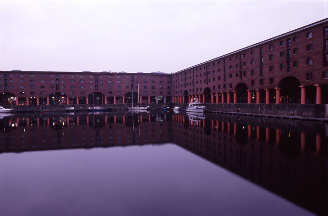 liverpools' albert dock, calm waters Albert Dock Arches Building Exterior Collums Docks Harbour Harbourside Liverpool Merseyside Mersyside Portrait Symmetry Thismorning Warehouse