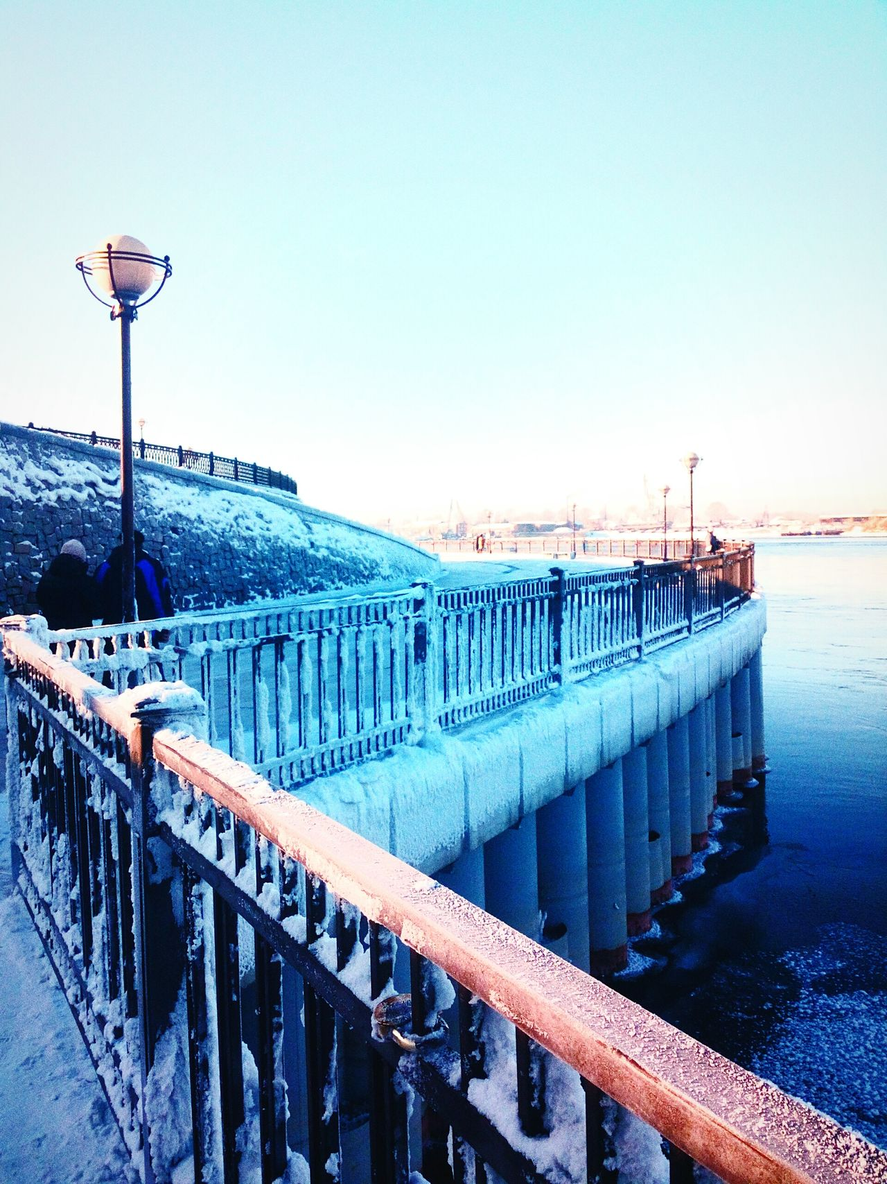 City Bridge - Man Made Structure Connection Built Structure Travel Destinations Sky Cityscape Outdoors No People Architecture Day Top Nice Snow красота Россия Иркутск прогулка Winter Nature Water Travel History Ангара утро