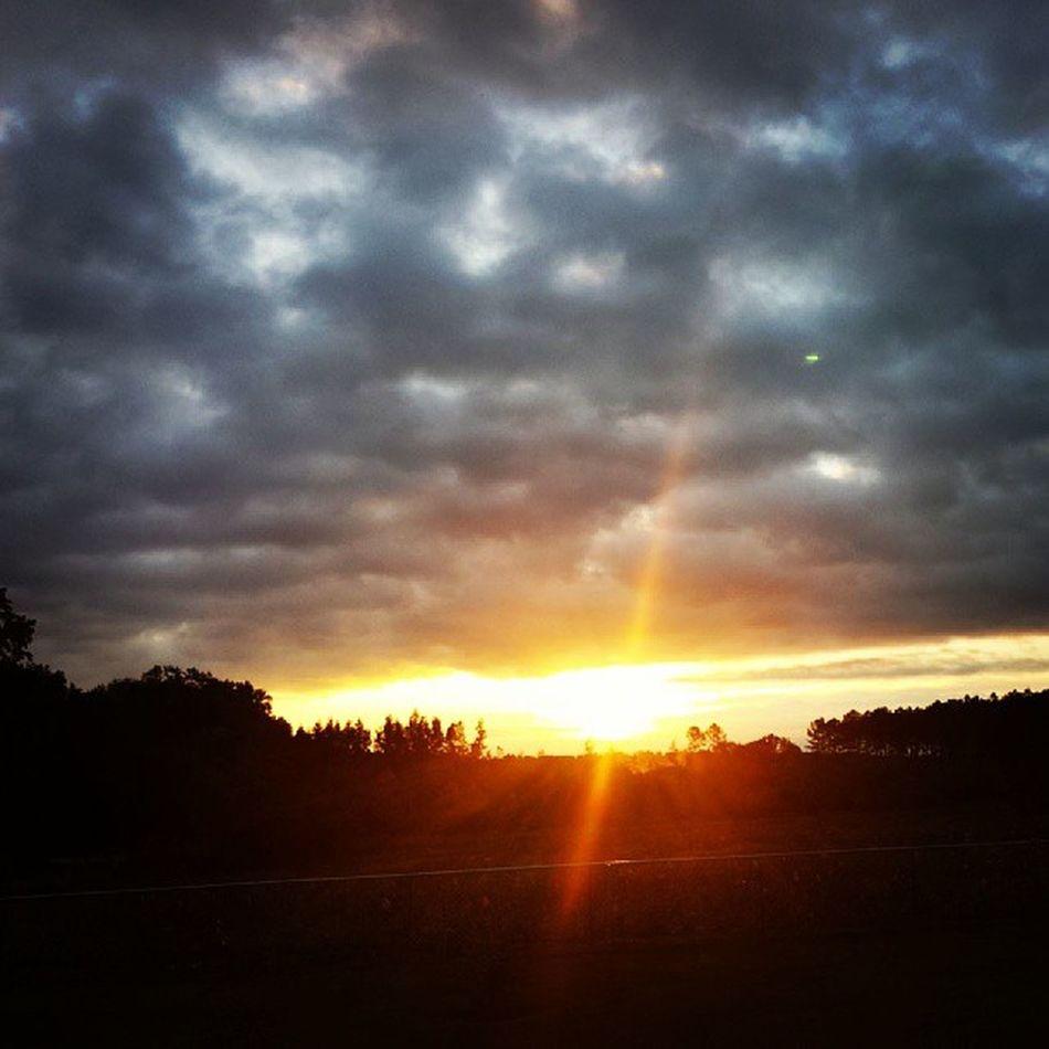Good morning Sunrise Goodmorning Harrisonga Georgia ruralgeorgia cloudporn cloudscape sunflare