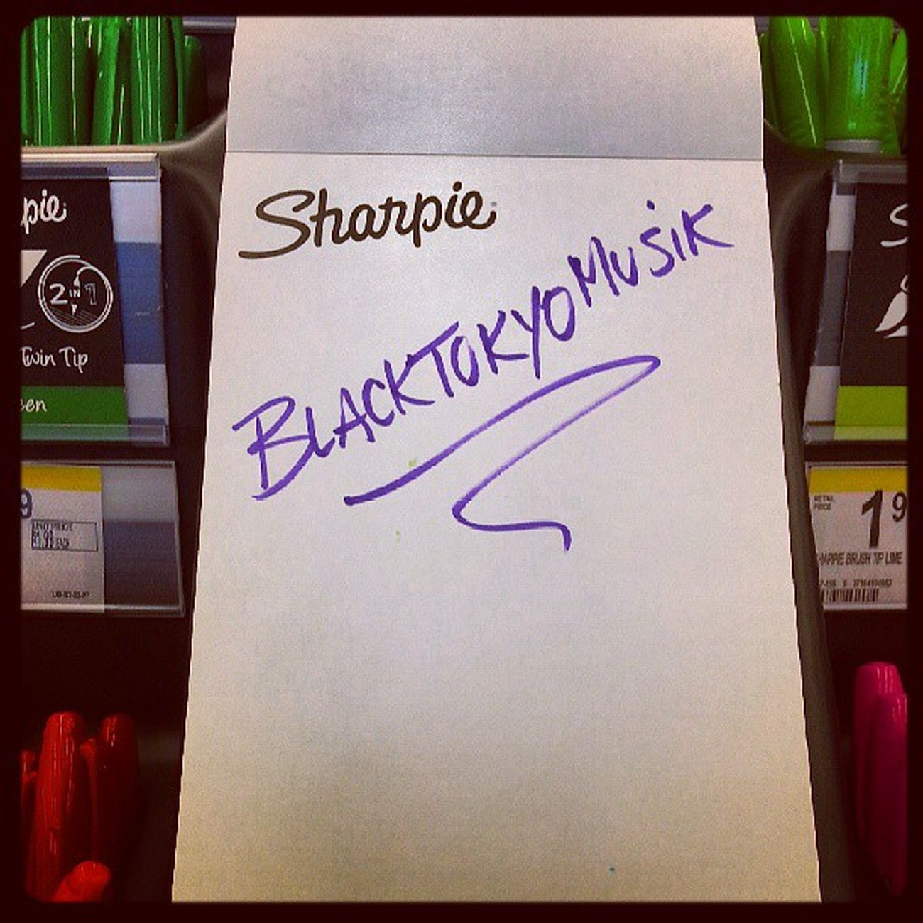 Look what I found at Walgreens today @blacktokyomusik Sharpiemarkers