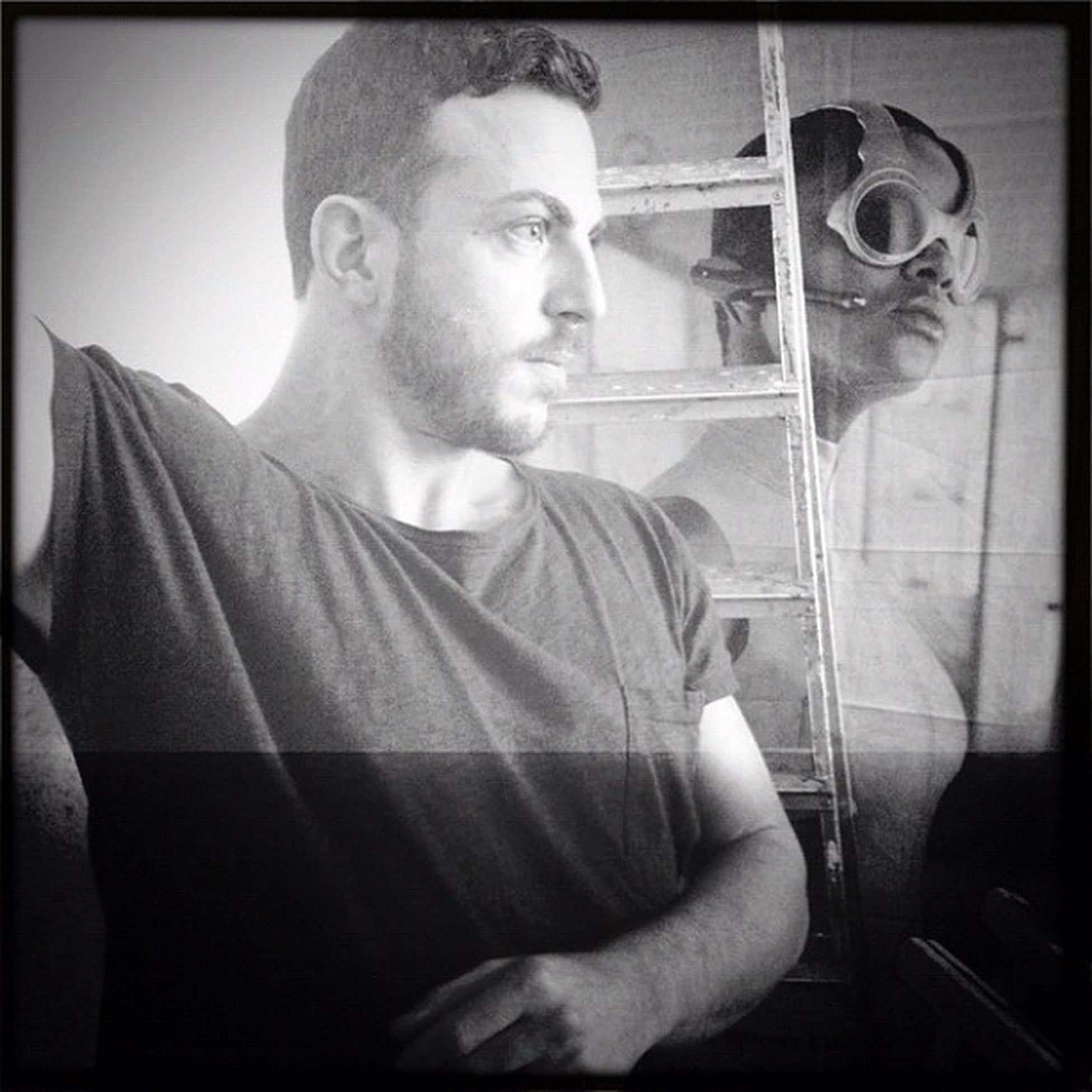 shooting with @alcarlino at Neroscurostudio for @vanillaskyrock Vanillasky