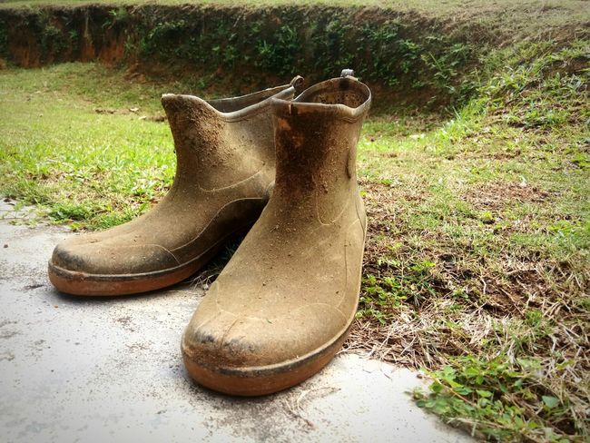 rubber boots.. Rubberboots Pair Nature Outdoors Close-up Boots Grass No People Day Shoe