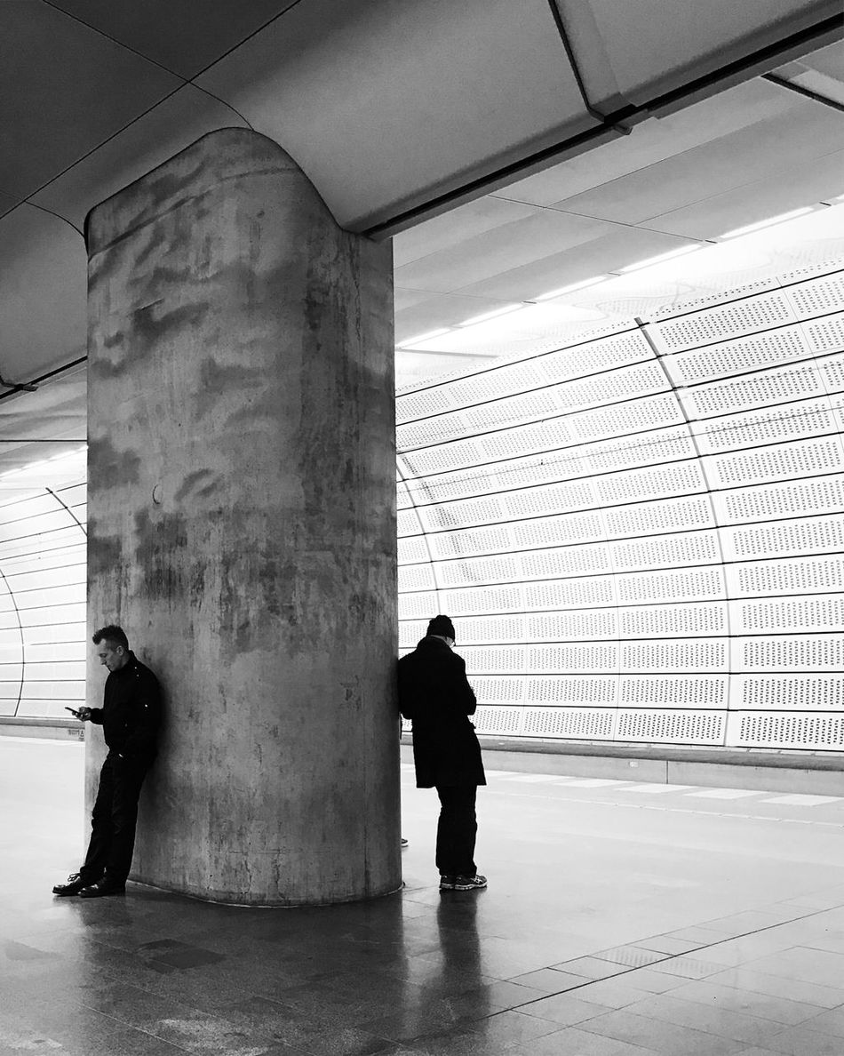 Real People Architecture Black And White Bw_collection Monochrome Street Photography Malmö Tunnel Subway Station
