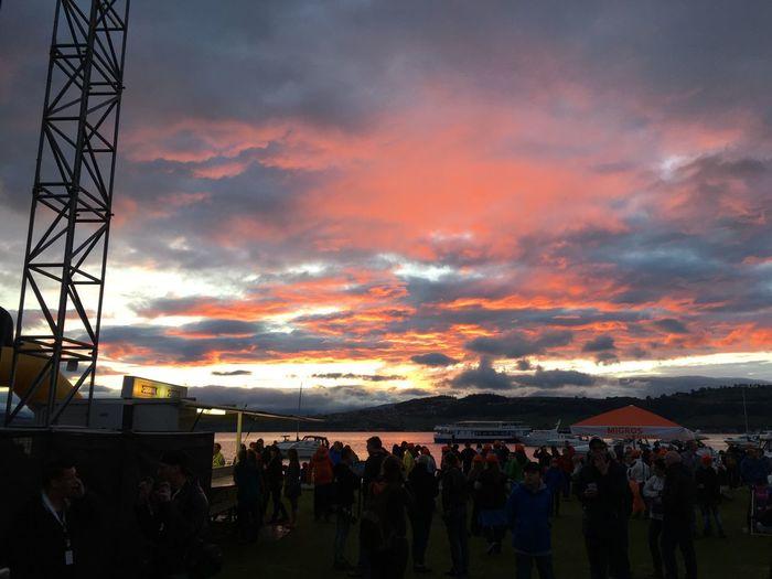 Sunset Party Concert Open Air Lake View Murten Murtensee Sunset