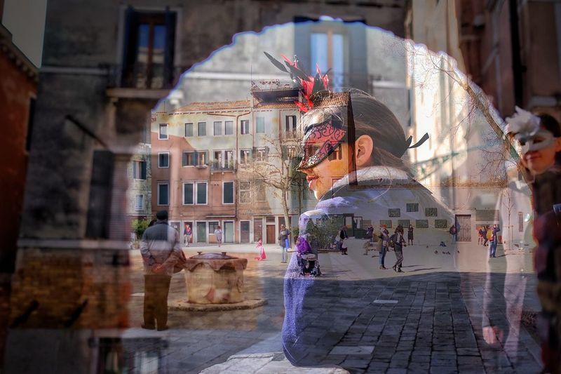 Multiple Exposures Multiexposure  Travel Destinations Multiexposure  Arts Multiple Image Multi-layered Effect Venetian Venetian Mask Venice Italy Venezia Venice Multi Colored Celebration Carnival Venezia Illuminated Day Architecture