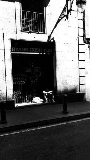 Homeless Sleeping Rough Streetlife Barcelona Barcelona, Spain