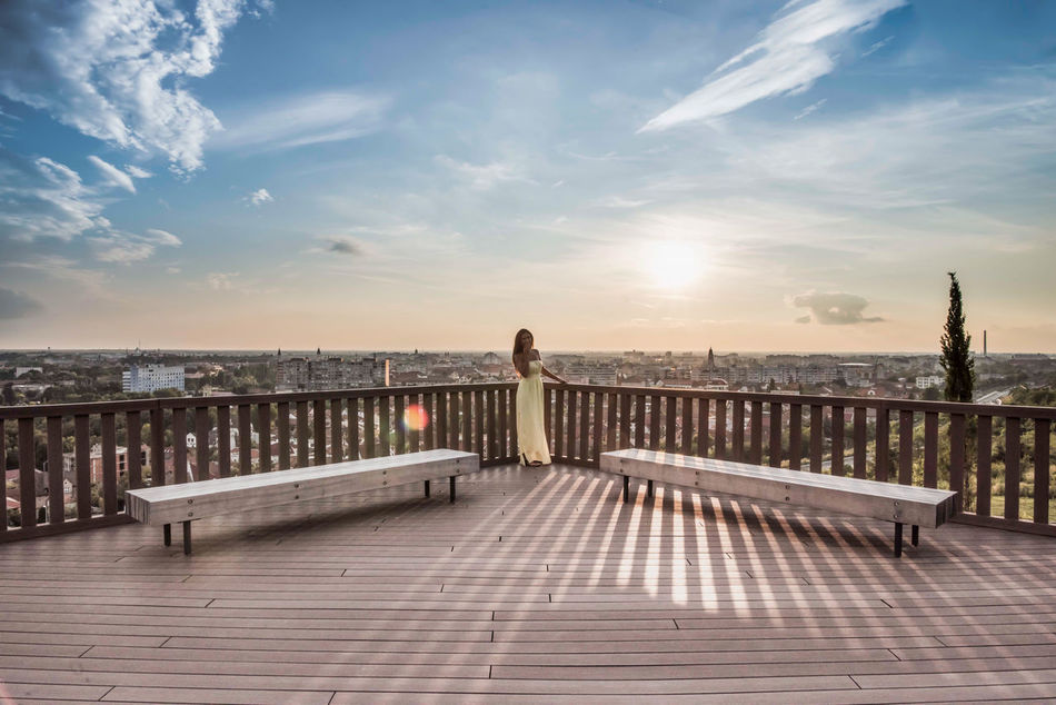 Beautiful stock photos of wolken, full length, one woman only, one person, only women