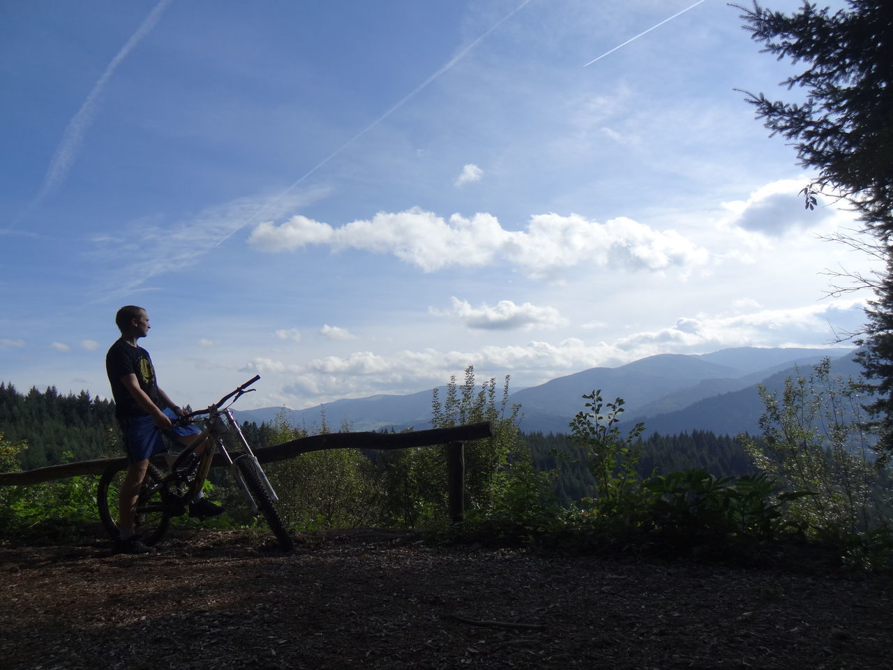 Beauty In Nature Bicycle Blackforest Borderline Cloud - Sky Downhill Freedom Freeride Freiburg Grass Leisure Activity Nature One Person Outdoors Pedal Rosskopf Sitting Sky Sport Young Adult Yt Industries